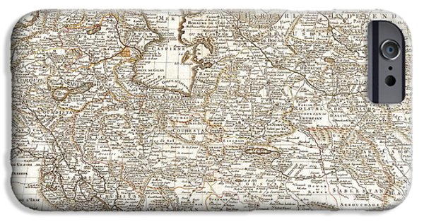 Iraq iPhone Cases - Persia Saudi Arabia Iraq Country Antique Vintage Map iPhone Case by ELITE IMAGE photography By Chad McDermott