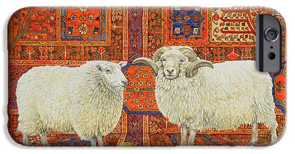 Persian Carpet iPhone Cases - Persian Wool iPhone Case by Ditz