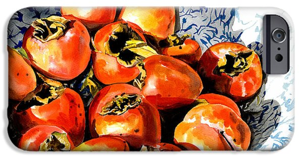 Nadi Spencer iPhone Cases - Persimmons iPhone Case by Nadi Spencer