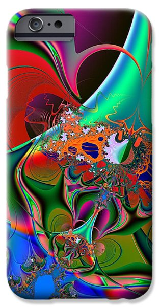 Abstract Digital Art iPhone Cases - Persistence iPhone Case by Solomon Barroa