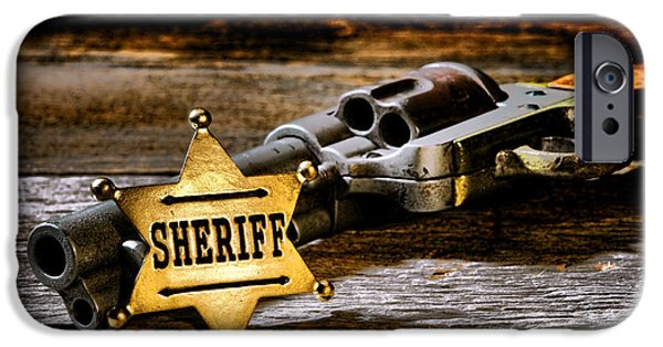 Sheriff iPhone Cases - Persuasion iPhone Case by Olivier Le Queinec