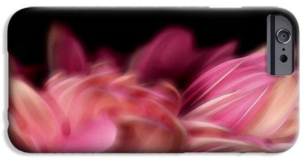 Nature Abstracts Pyrography iPhone Cases - Petal II iPhone Case by David Dominguez