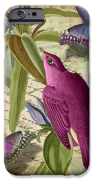 Flying Birds iPhone Cases - Petals and Wings I iPhone Case by Mindy Sommers