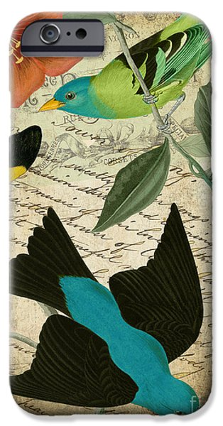 Flying Birds iPhone Cases - Petals and Wings V iPhone Case by Mindy Sommers