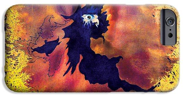 Dark Matter Paintings iPhone Cases - Petes Speed of Light iPhone Case by Albert Puskaric