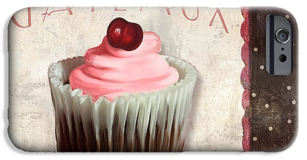 Espresso Paintings iPhone Cases - Petits Gateaux Chocolat Patisserie iPhone Case by Mindy Sommers