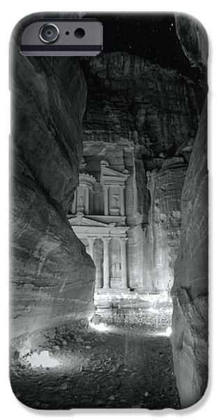 Jordan iPhone Cases - Petra Siq Night iPhone Case by Stephen Stookey