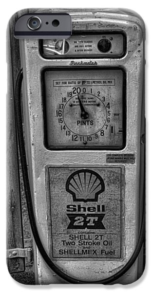 Shed iPhone Cases - Petrol Pump iPhone Case by Martin Newman