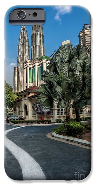 Twin Towers iPhone Cases - Petronas Towers iPhone Case by Adrian Evans