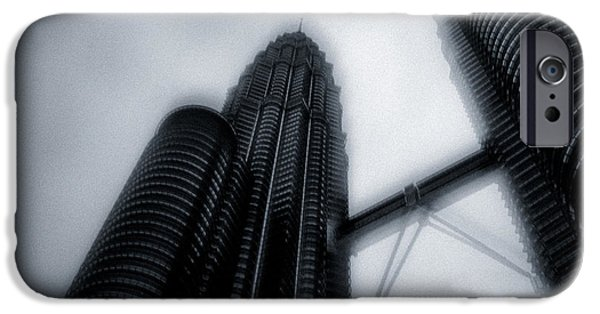 Twin Towers iPhone Cases - Petronas Towers iPhone Case by Dave Bowman