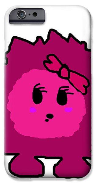 Petunia Blueberry iPhone Case by Jera Sky