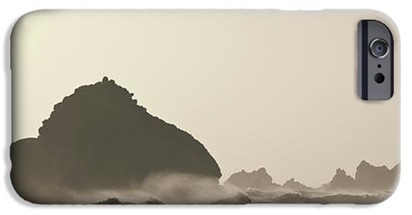 Dave iPhone Cases - Pfeiffer Beach III Toned iPhone Case by David Gordon