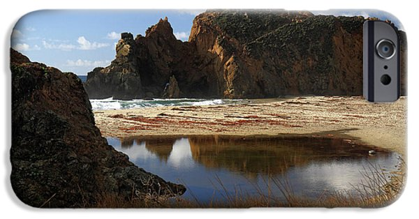 Pfeiffer Beach iPhone Cases - Pfeiffer beach landscape in Big Sur iPhone Case by Pierre Leclerc Photography