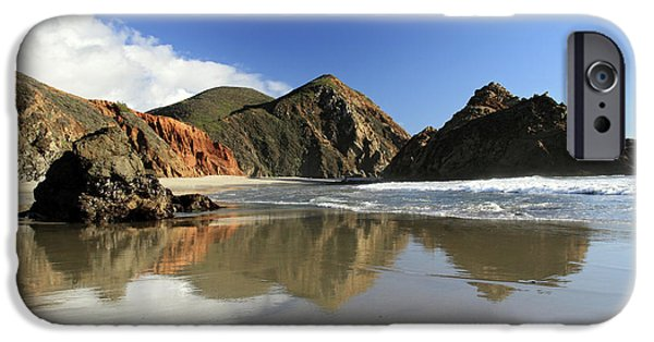 Pfeiffer Beach iPhone Cases - Pfeiffer Beach reflection iPhone Case by Pierre Leclerc Photography