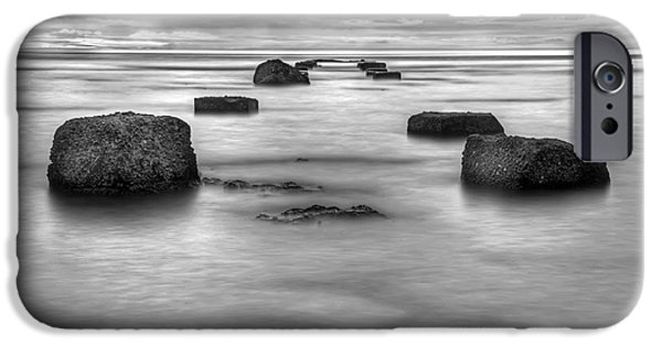 Grey Photographs iPhone Cases - Phantom Pier iPhone Case by Ryan Wyckoff