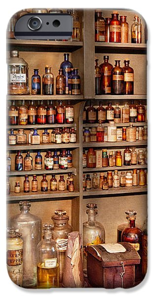 Pharmacy - Get me that bottle on the second shelf iPhone Case by Mike Savad