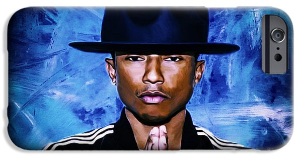 Hightower iPhone Cases - Pharrell Williams Happy II iPhone Case by Brian Reaves