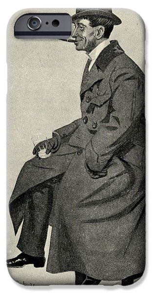 Cartoonist iPhone Cases - Phil May 1864 1903 English Caricaturist iPhone Case by Ken Welsh