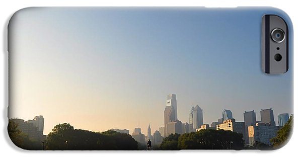 Franklin iPhone Cases - Philadelphia Across Eakins Oval iPhone Case by Bill Cannon