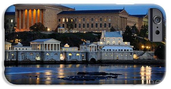 Schuylkill iPhone Cases - Philadelphia Art Museum and Fairmount Water Works iPhone Case by Gary Whitton