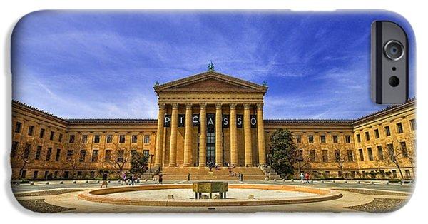 Pa iPhone Cases - Philadelphia Art Museum iPhone Case by Evelina Kremsdorf