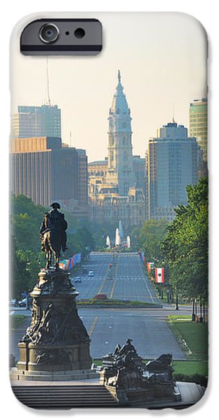 Philadelphia Benjamin Franklin Parkway iPhone Case by Bill Cannon