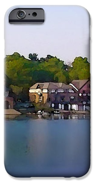 Philadelphia Boat House Row iPhone Case by Bill Cannon