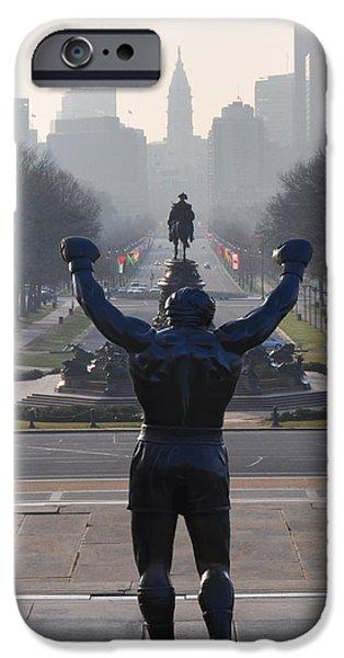 Philadelphia Champion - Rocky iPhone Case by Bill Cannon