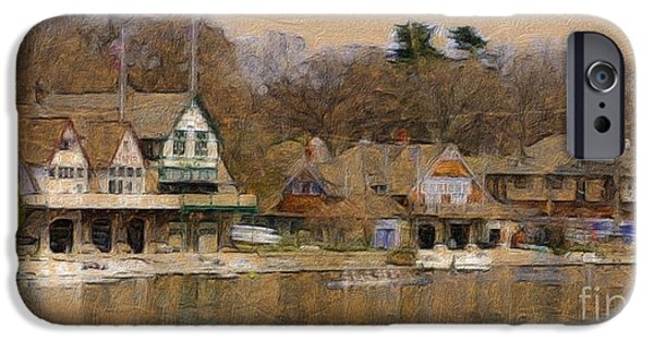 Charles River iPhone Cases - Philadelphia Rowing Clubs iPhone Case by Marcia Lee Jones