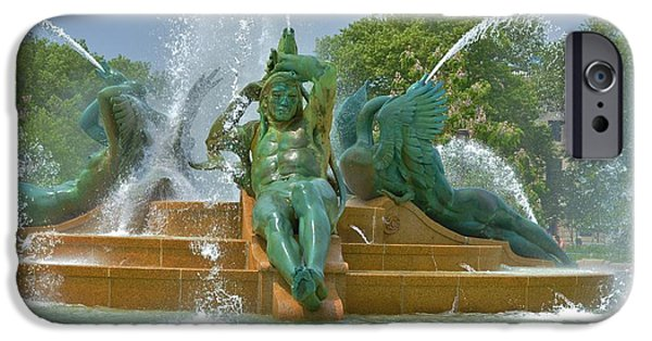 United States iPhone Cases - Philadelphia Swann Fountain iPhone Case by Marla McPherson
