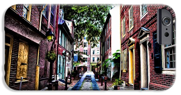 Phillies Digital iPhone Cases - Philadelphias Elfreths Alley iPhone Case by Bill Cannon