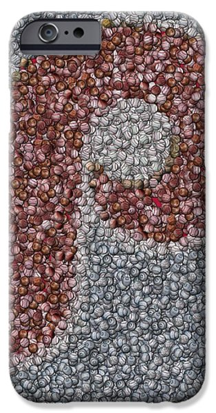 Autographed Mixed Media iPhone Cases - Philidelphia Phillies Baseballs Mosaic iPhone Case by Paul Van Scott