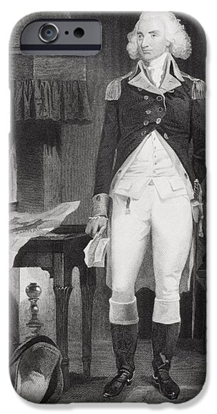 American Revolution iPhone Cases - Philip Schuyler 1733-1804. American iPhone Case by Ken Welsh