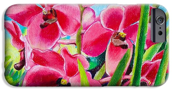 Flora Drawings iPhone Cases - Philippine Orchid iPhone Case by Bong Perez