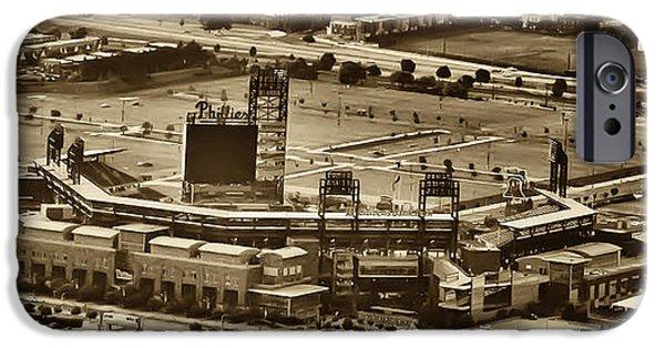 Citizens Bank Park iPhone Cases - Phillies Stadium - Citizens Bank Park iPhone Case by Bill Cannon
