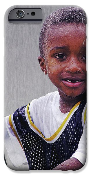Philly Fountain Kid iPhone Case by Brian Wallace