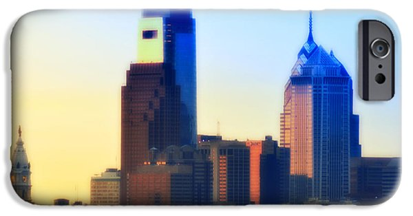 Philadelphia City Hall iPhone Cases - Philly Morning iPhone Case by Bill Cannon