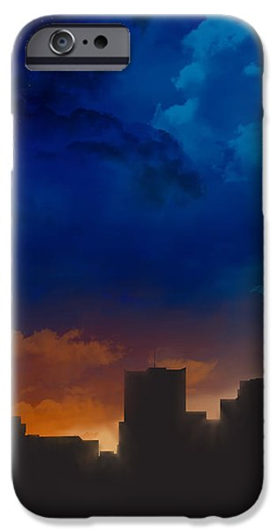 Building iPhone Cases - Phoenix Arizona Night Sky  iPhone Case by Marlene Watson