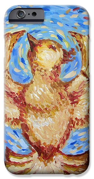 Business Paintings iPhone Cases - Phoenix iPhone Case by Maria Langgle