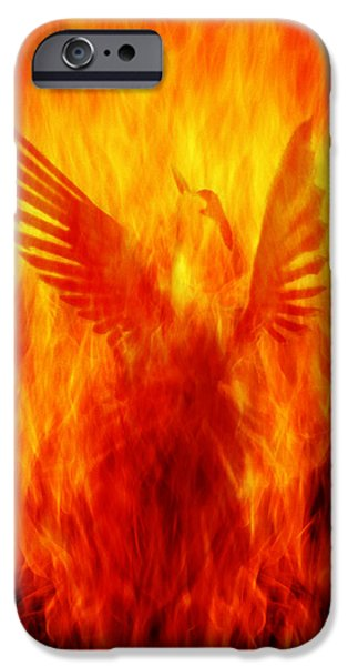 Phoenix Rising iPhone Case by Andrew Paranavitana