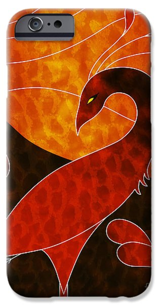 Digital Mixed Media iPhone Cases - Phoenix  iPhone Case by Robert Ball