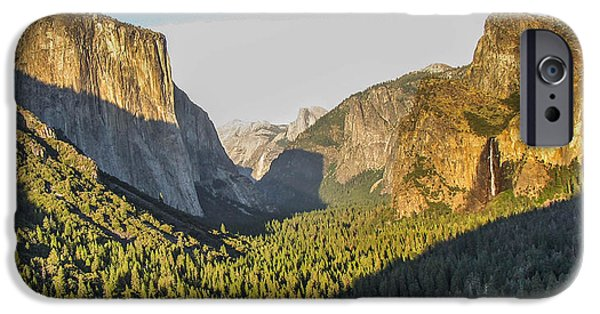 Cathedral Rock iPhone Cases - Yosemite valley iPhone Case by Barry Bohn