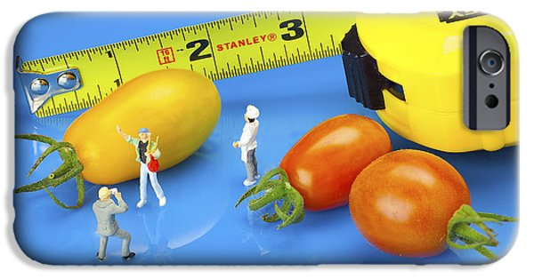 Figure iPhone Cases - Photography of tomatoes little people on food iPhone Case by Paul Ge