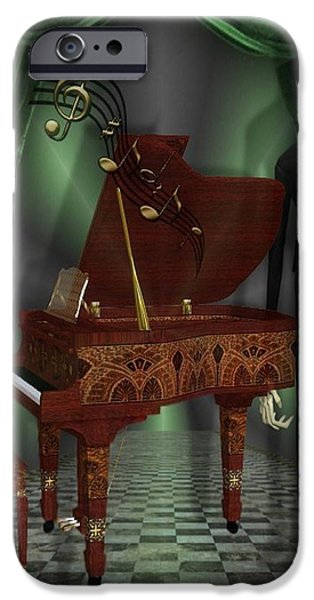 Piano iPhone Cases - Pianist iPhone Case by G Berry