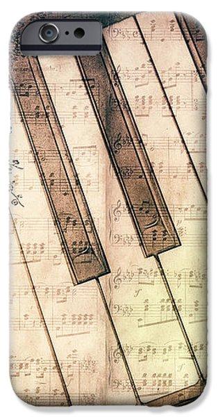 Piano Days iPhone Case by Jutta Maria Pusl
