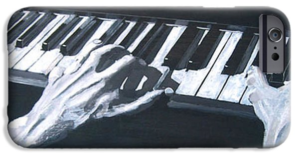 Piano iPhone Cases - Piano Hands Plus Metronome iPhone Case by Richard Le Page