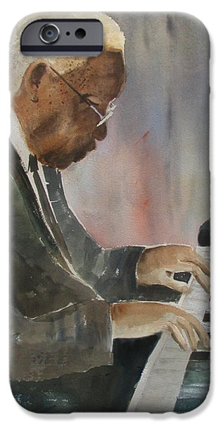 Piano Jazz iPhone Case by Arline Wagner