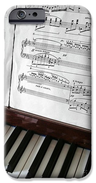 Keyboard iPhone Cases - Piano Keys iPhone Case by Carlos Caetano