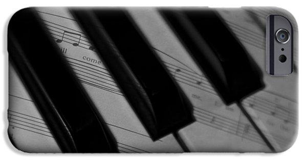 Piano iPhone Cases - Piano Keys iPhone Case by Mechala  Matthews