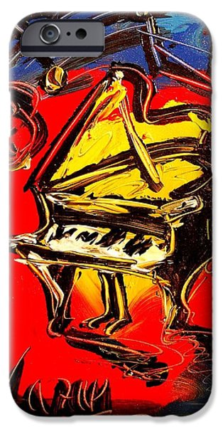 Recently Sold -  - Piano iPhone Cases - Piano Music Jazz iPhone Case by Mark Kazav